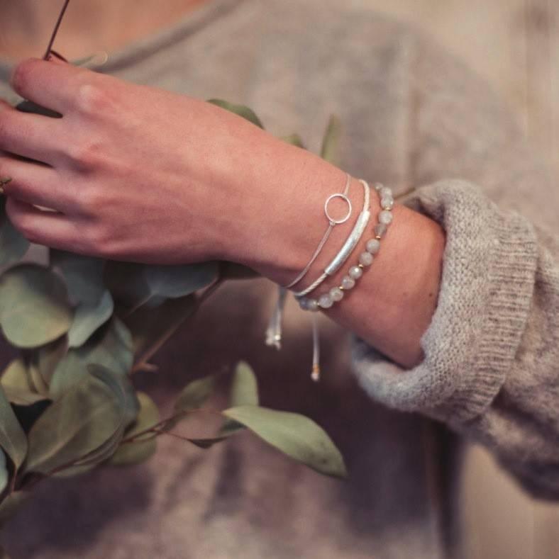 Si Simple Bracelet Marilou Argent et Blanc