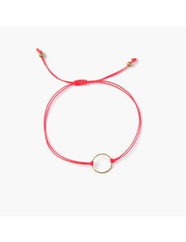 Si Simple Gold and Coral Marilou Bracelet