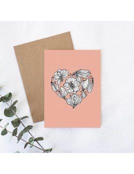 Joannie Houle Floral Heart Greeting card