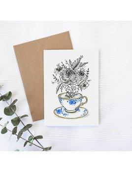 Joannie Houle Tea Cup Greeting card