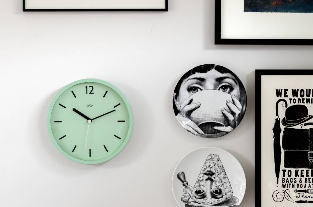 Wild&Wolf Swedish Green Wall Clock