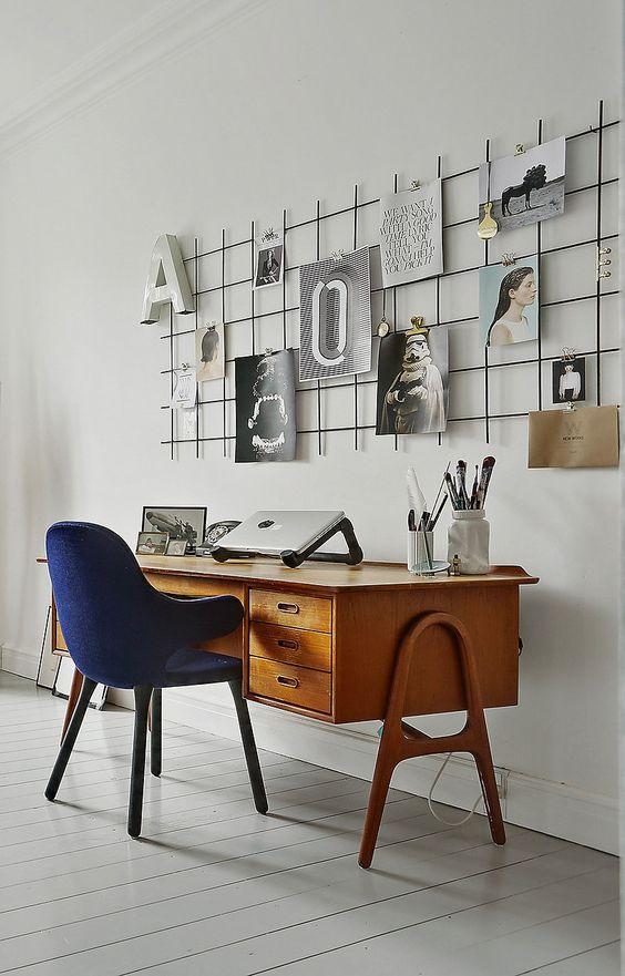 D coration l indispensable du bureau la grille murale boutique vestibule - Tableau deco pour bureau ...