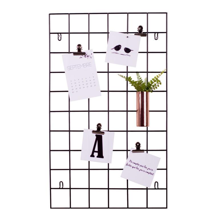 d coration l indispensable du bureau la grille murale. Black Bedroom Furniture Sets. Home Design Ideas