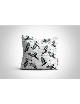 Fleur Maison Grid Toucan Cushion
