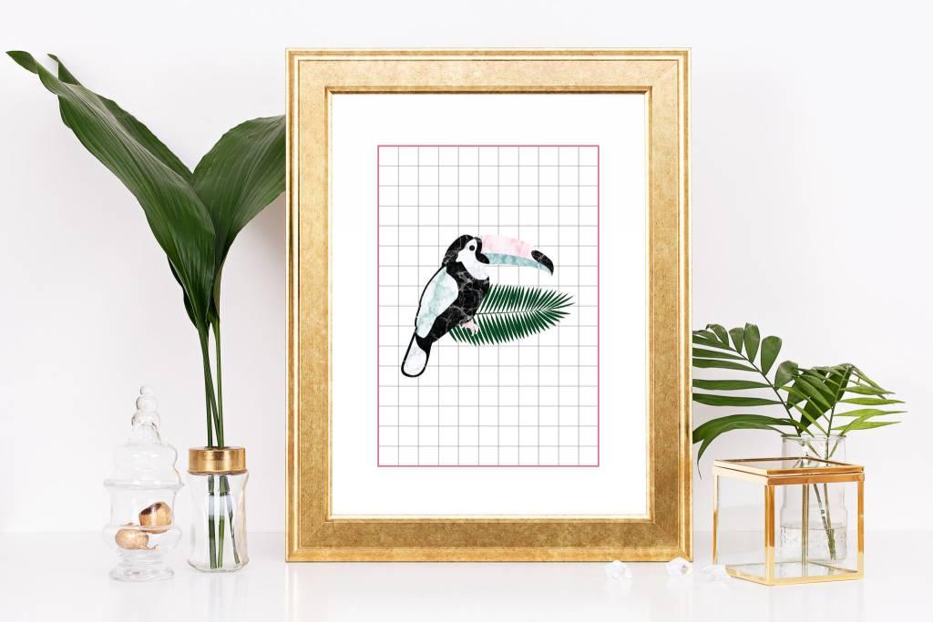 Fleur Maison Small Print - Grid Toucan