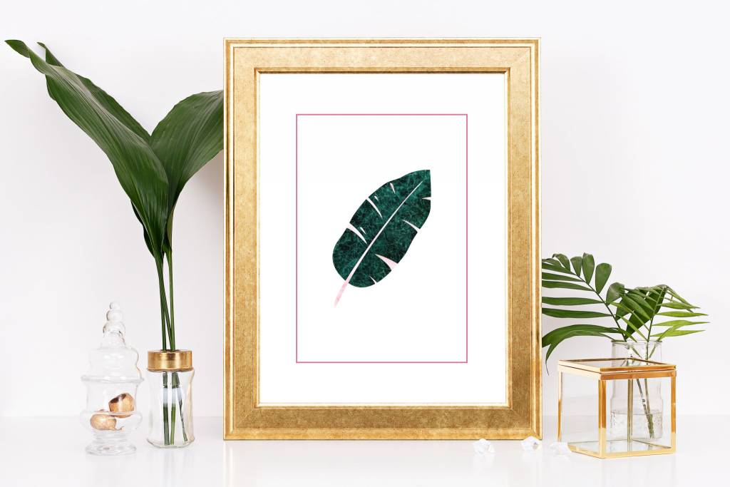Fleur Maison Small Print - Banana Leaf