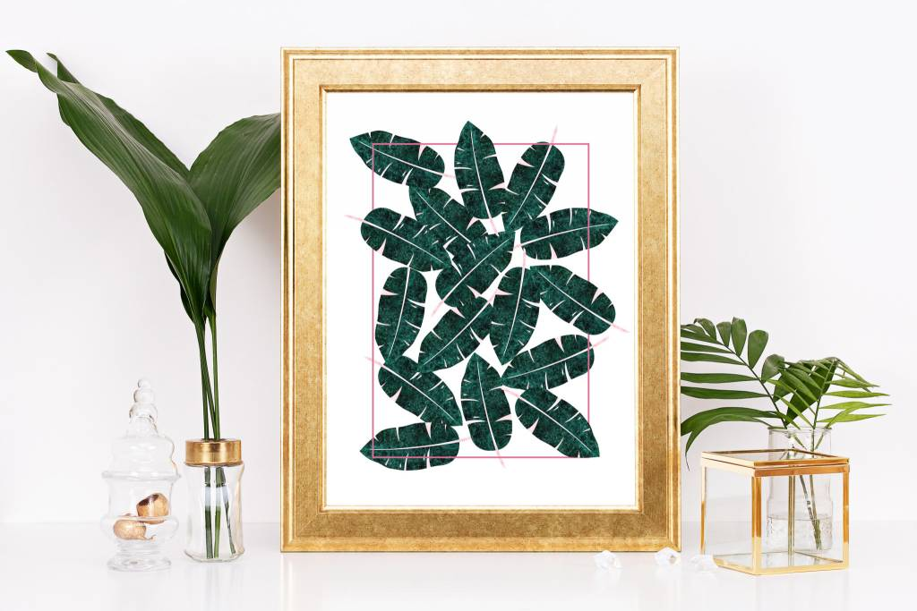 Fleur Maison Small Print - Mosaic Banana Leaf