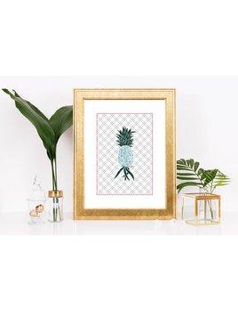 Fleur Maison Grande Affiche Ananas
