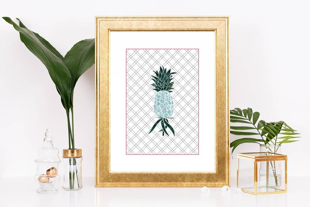 Fleur Maison Petite Affiche Ananas