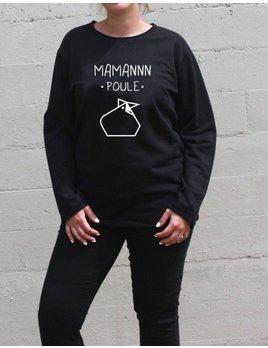Ptit Mec Ptite Nana Classic  Black Maman Poule Sweater
