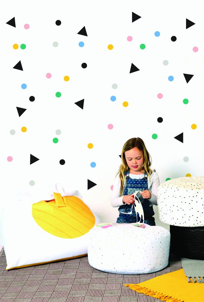 Gauthier studio adh sifs d coratifs confetti boutique vestibule for Adhesifs decoratifs