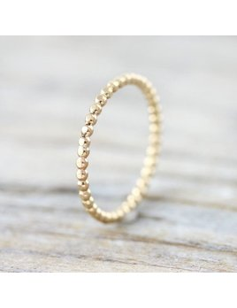 Le Cubicule Gold Filled Dotted Ring