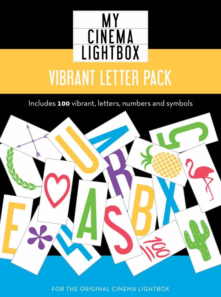 Cinema Lightbox Lettres Colorées - Boite Cinéma Format Original
