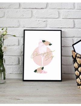 Fleur Maison Small Champagne svp Poster