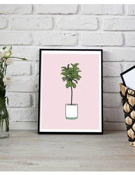 Fleur Maison Petite Affiche Ficus Lyrata
