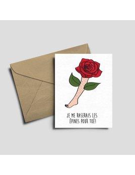 Fleur Maison Carte de souhaits -   Les épines