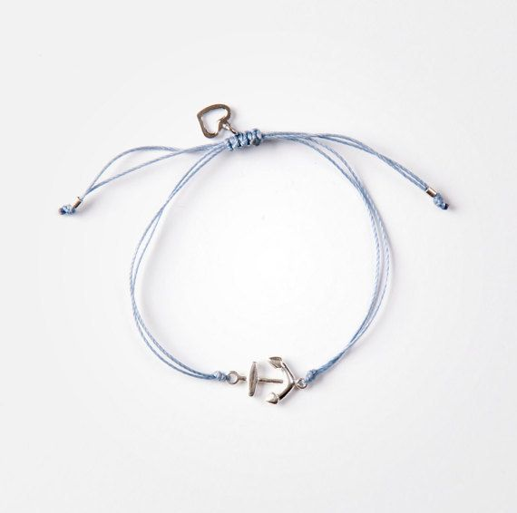 Si Simple Anchor Bracelet