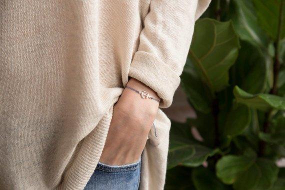 Si Simple Ancre Bracelet