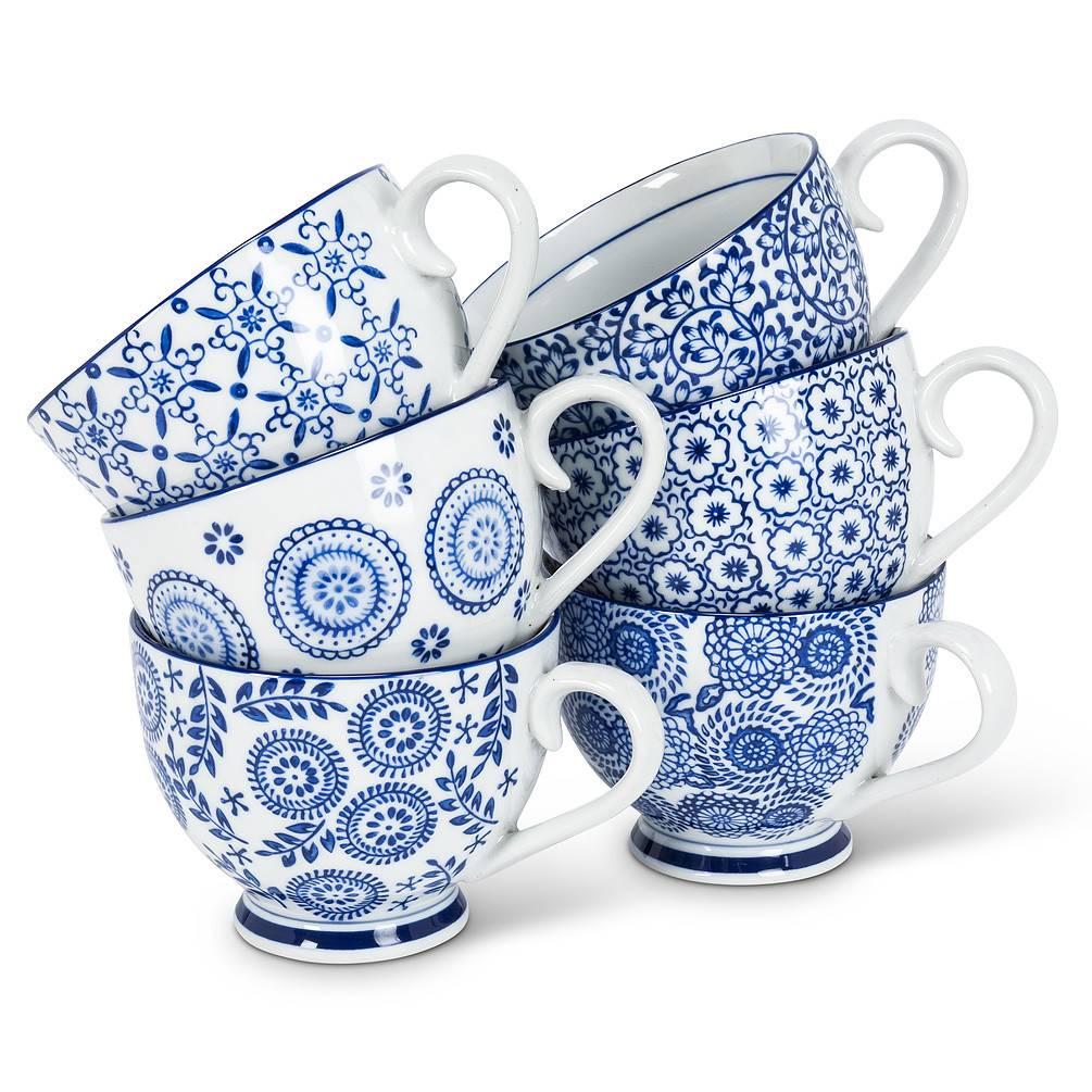 Abbott Blue&White Handled Cup