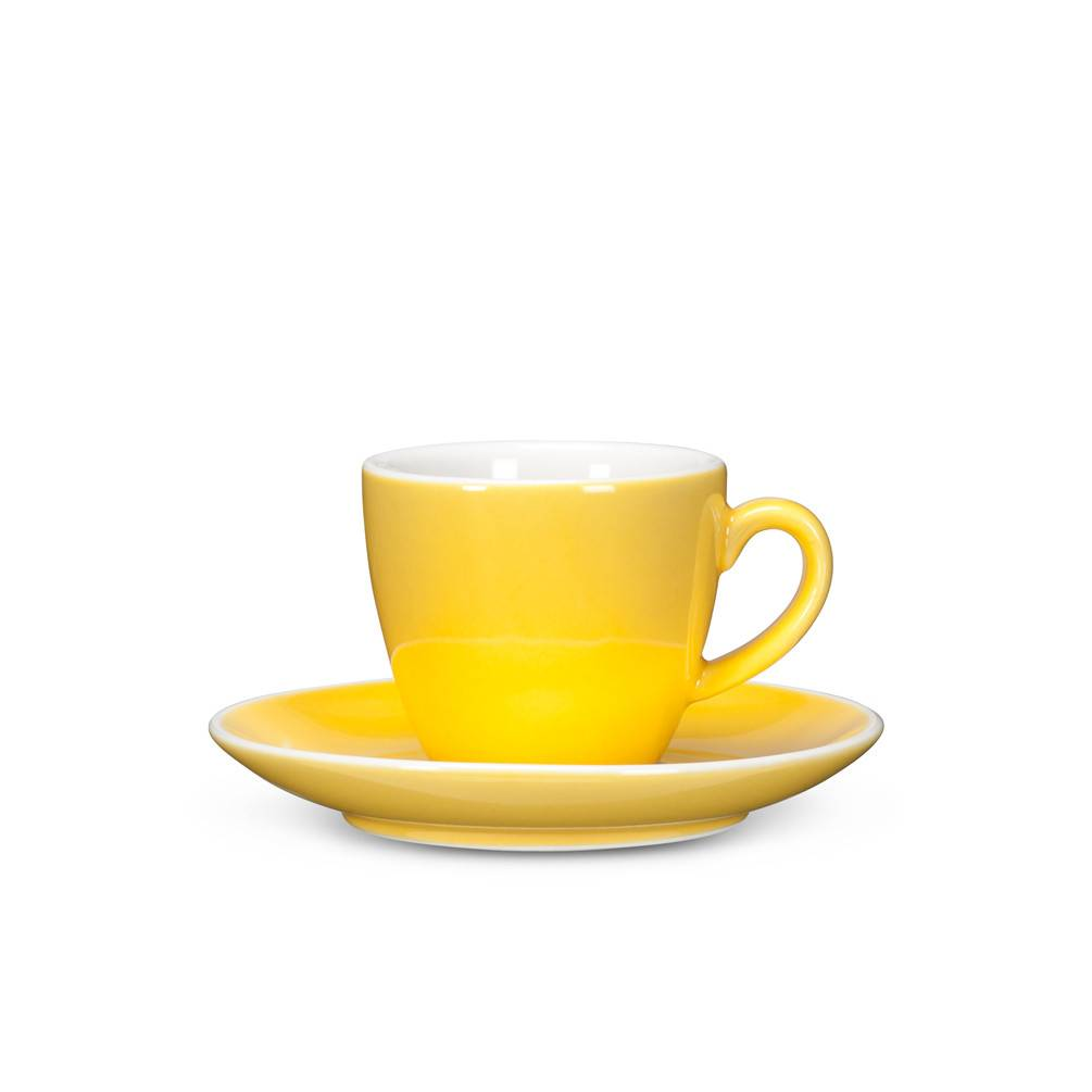 Abbott Yellow Espresso Cup and Saucer