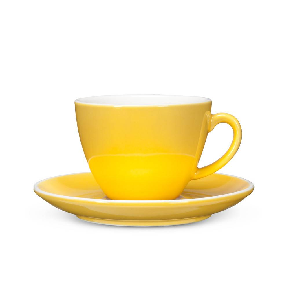 Abbott Yellow Cappuccino Cup and Saucer