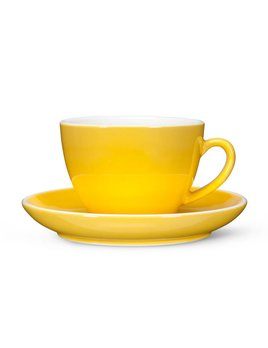 Abbott Yellow Latte Tea Cup and Saucer
