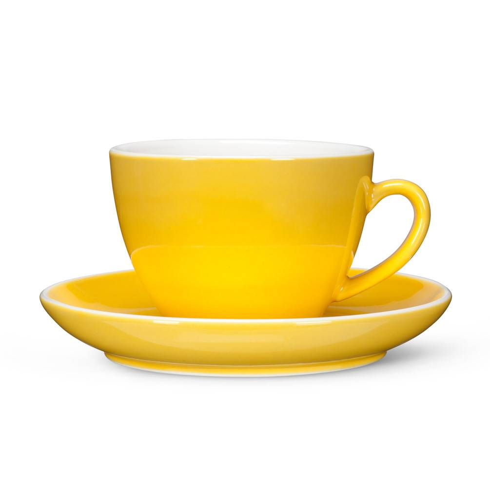 Abbott Yellow Latte Tea Cup and Saucer