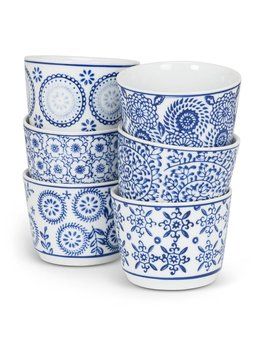 Abbott Blue & White Tea Cups