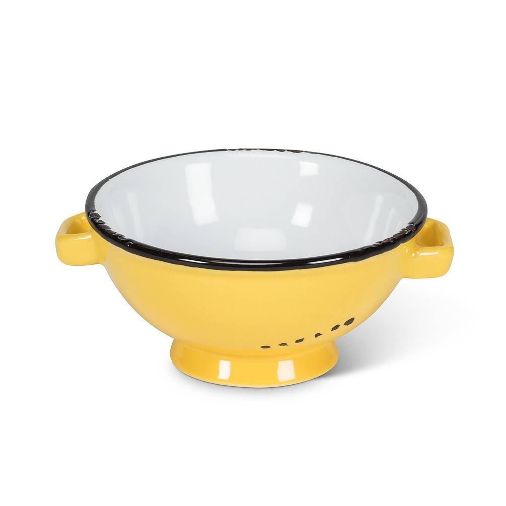Abbott Yellow Enamel Dip Dish