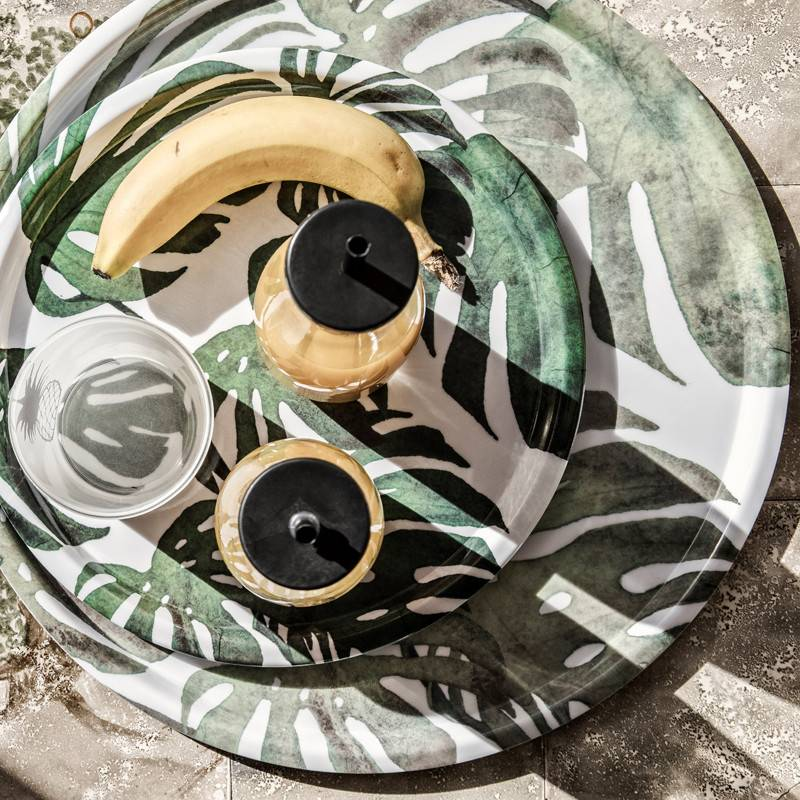 Eightmood Assiette Ronde Monstera