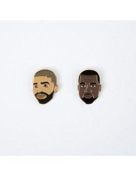 Drake General Store Drake + Kanye Enamel Pin