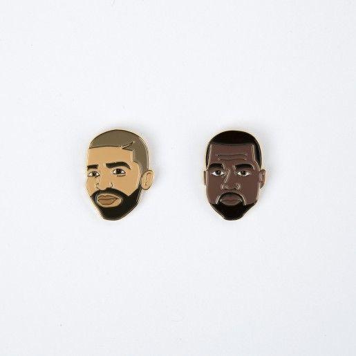 Drake General Store Broches - Drake + Kanye