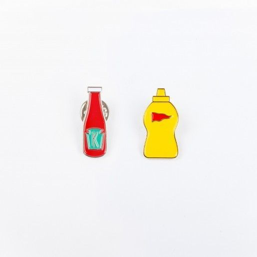 Drake General Store Broches - Ketchup + Moutarde