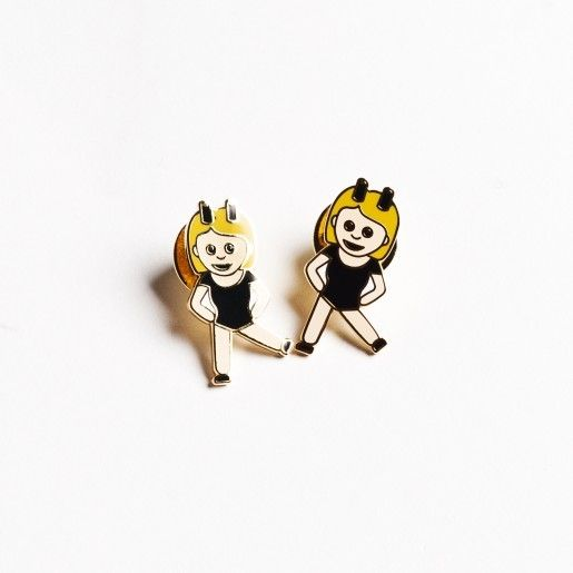 Drake General Store Dancing Twin Emoji Pins Pair