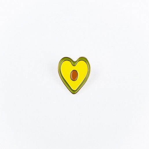 Drake General Store Avocado Heart Enamel Pin