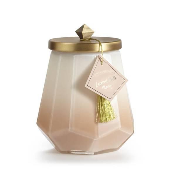 Coconut milk mango laurel glass candle