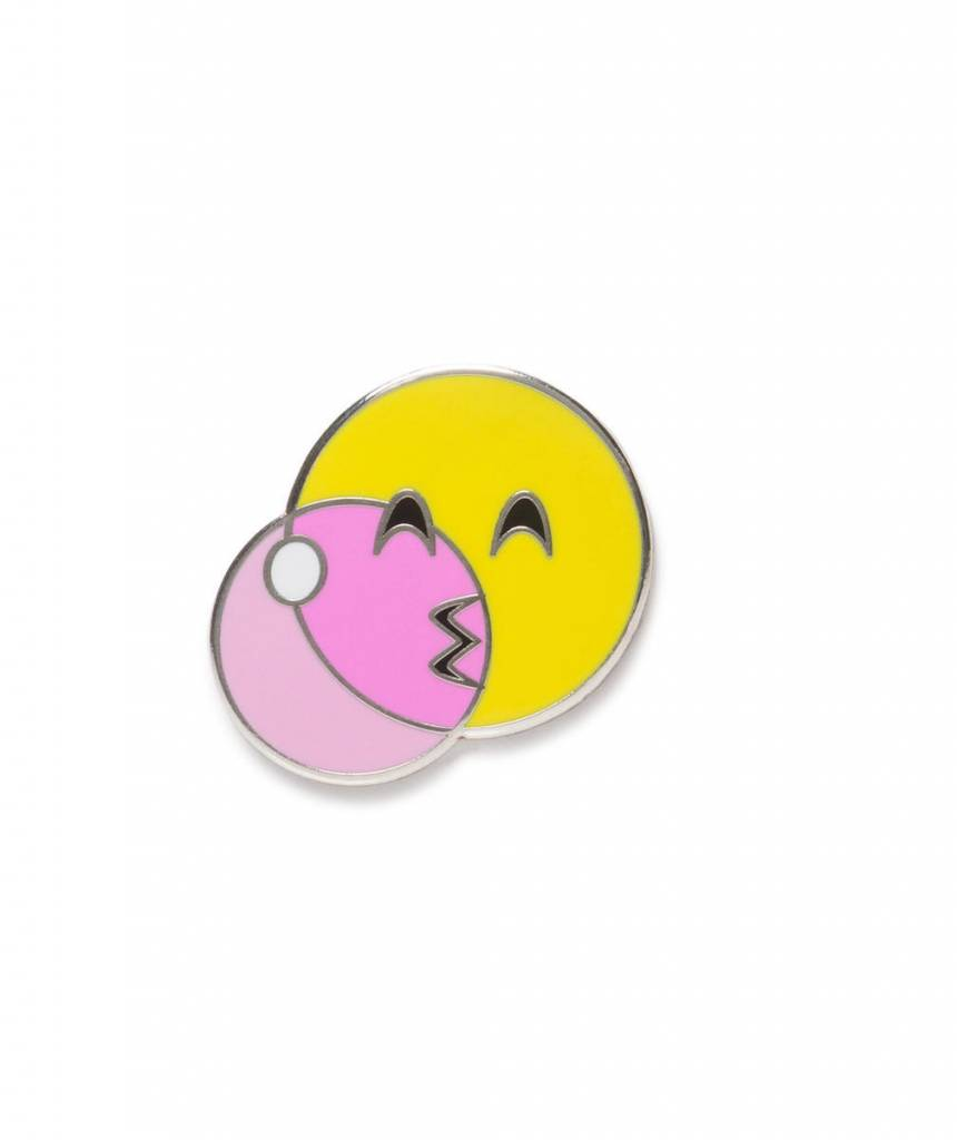 IDecoz Bubble Gum Emoji  Sticker Pin