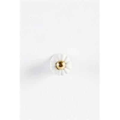 ADV White Flower Knob