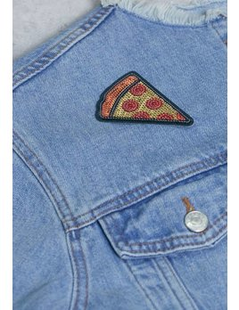 IDecoz Pizza Sequin Sticker Patch
