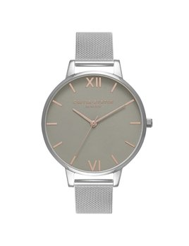 Olivia Burton Big Dial Silver Mesh Watch