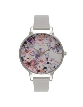 Olivia Burton Enchanted Garden Grey & Silver Watch
