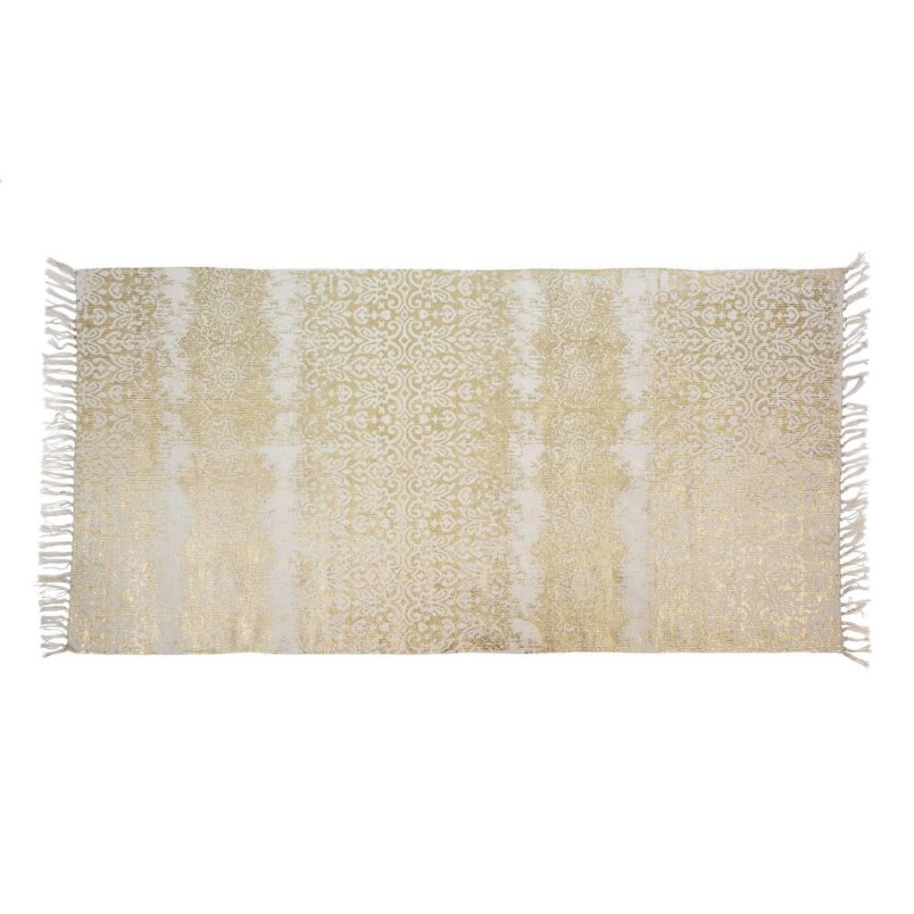 Indaba Natural Rug Gold Foil