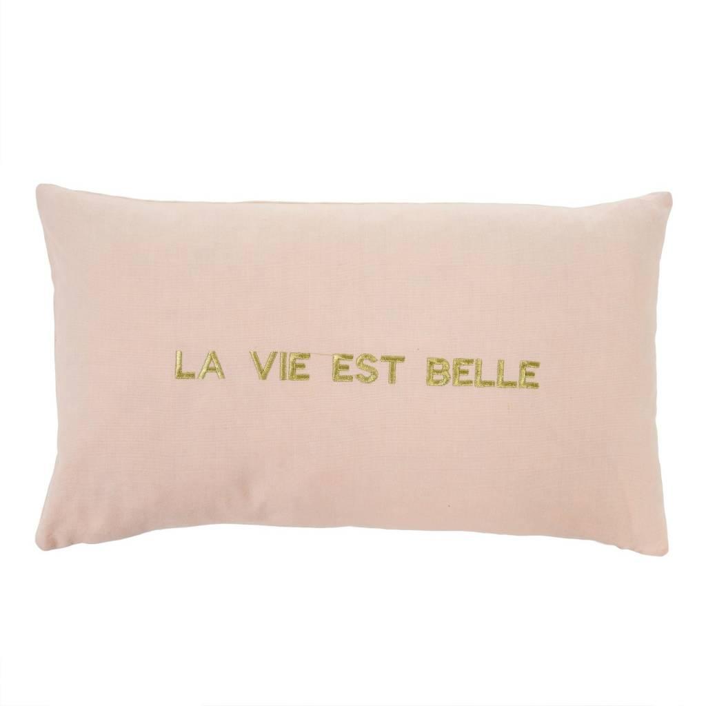 Indaba La Vie est belle cushion