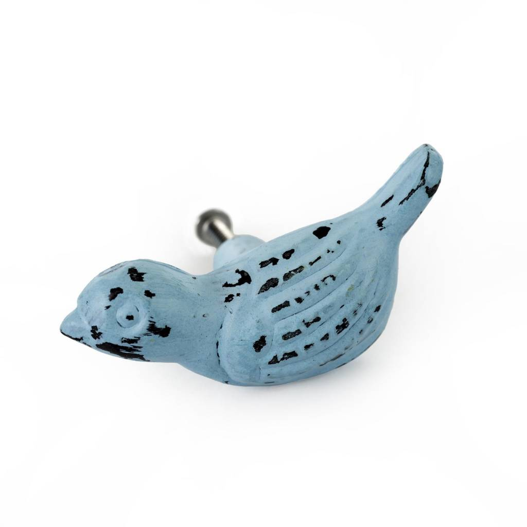 Indaba Poignée Oiseau bleu poudre
