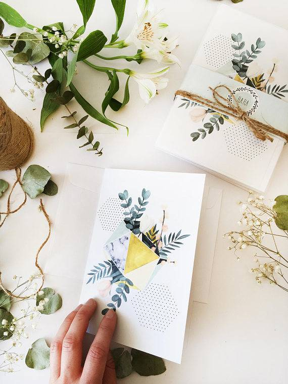 Fla Fla Geo Tulipe Greeting Card