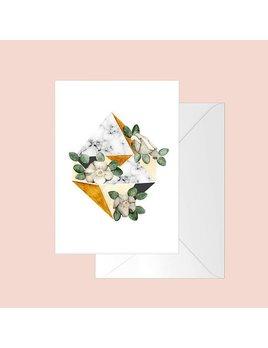 Fla Fla Diamond Flowers Greeting Card