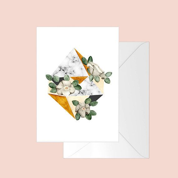 Fla Fla Diamond Flowers Greeting Card