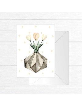 Fla Fla Carte de souhaits Pot de Tulipes
