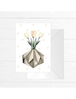 Fla Fla Tulips Jar Greeting Card