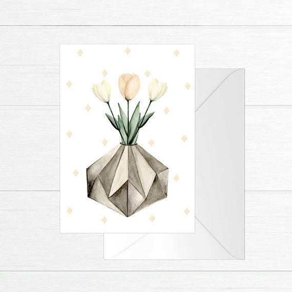 Fla Fla Tulips Jar Greeting Card